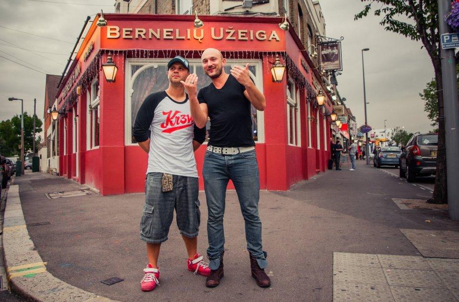 Lukas Pačkauskas ir Donatas Baumila-Dūnis Londone