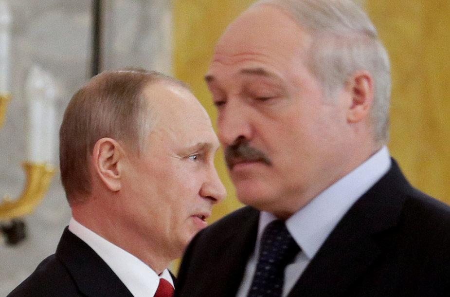 Vladimiras Putinas ir Aliaksandras Lukašenka