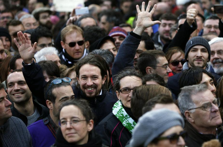 """""""Podemos"""" lyderis Pablo Iglesias"""