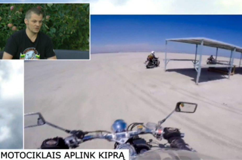 Motociklais aplink Kiprą