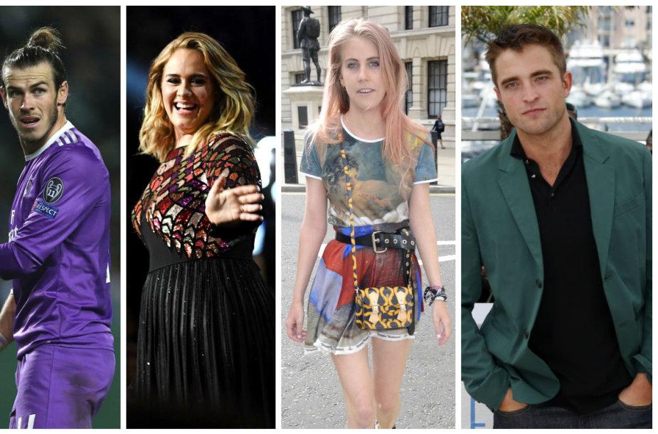 Garethas Bale'as, Adele, India Rose James ir Robertas Pattinsonas