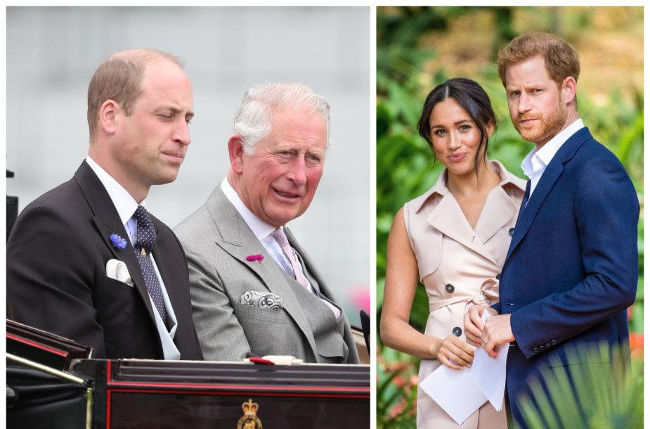 Princas Williamas, princas Charlesas, Sasekso hercogai Harry ir Meghan Markle