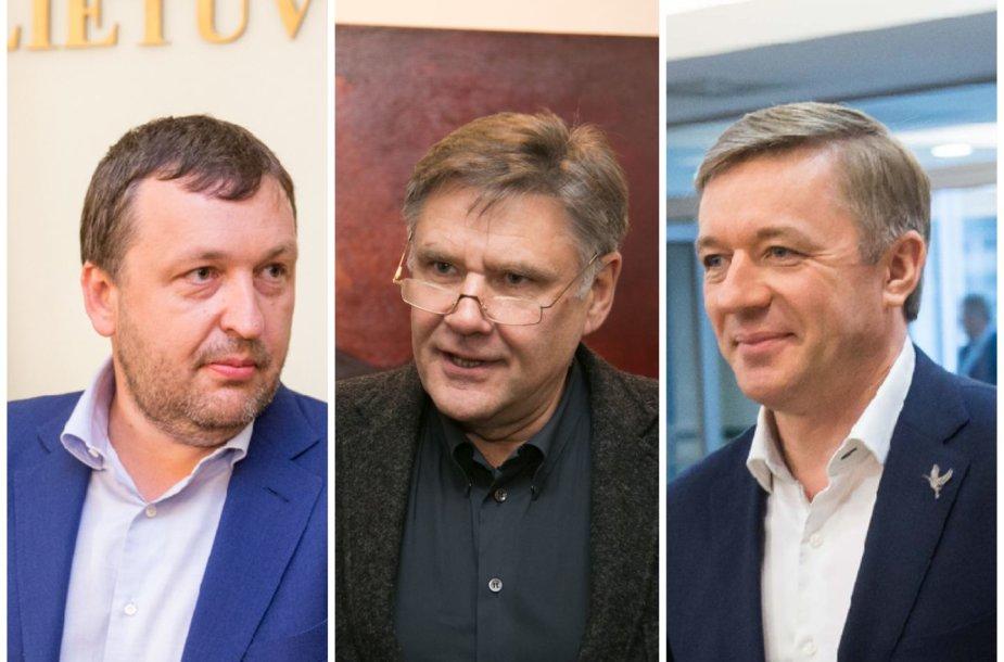 A.Guoga, V.Martikonis ir R.Karbauskis