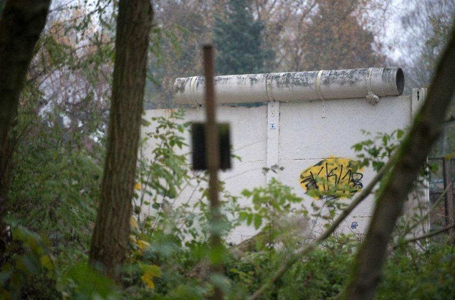 Miške aptikta nepaliesta Berlyno sienos dalis