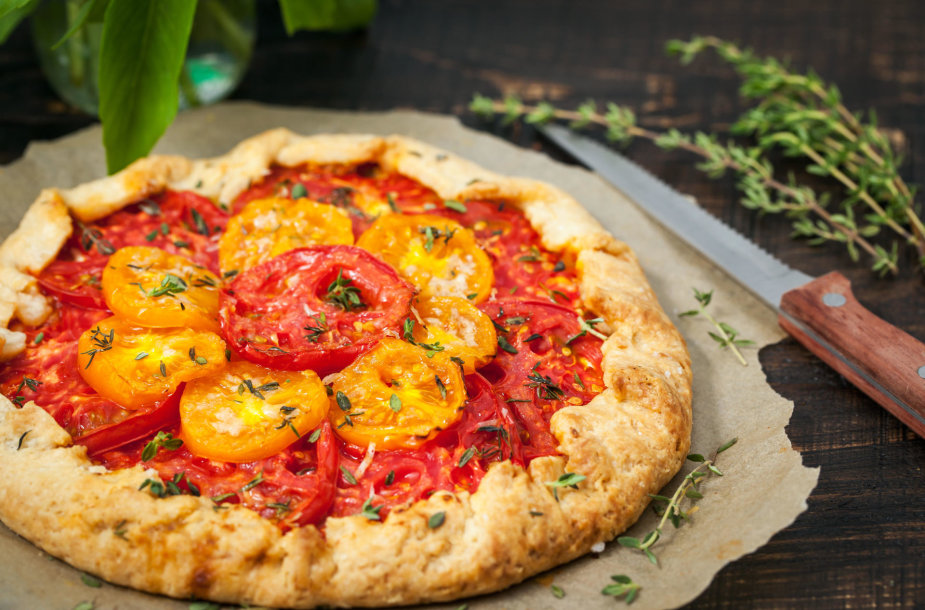 Galetė su pomidorais