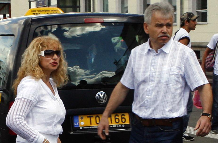 Jurijus Borisovas su žmona Irina