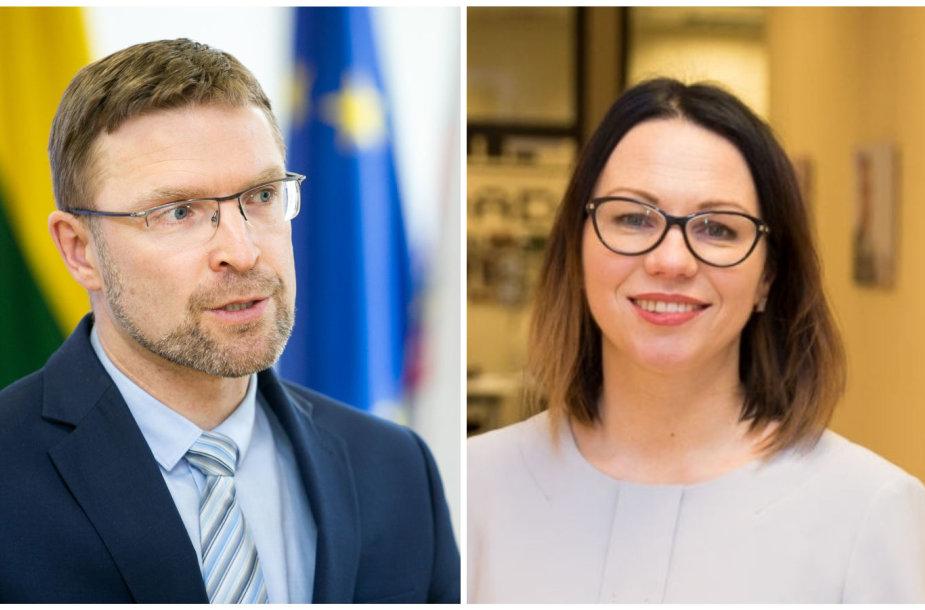 Linas Kukuraitis ir Eglė Radišauskienė