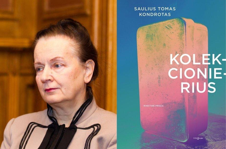 Jūratė Sprindytė ir knygos viršelis