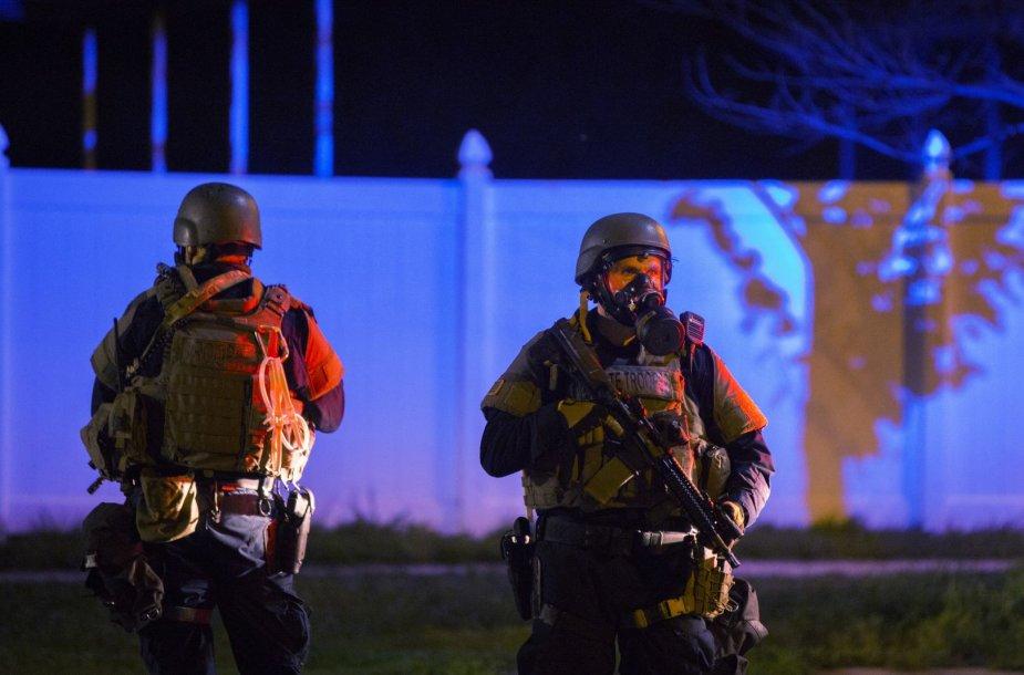 JAV policija Fergusone