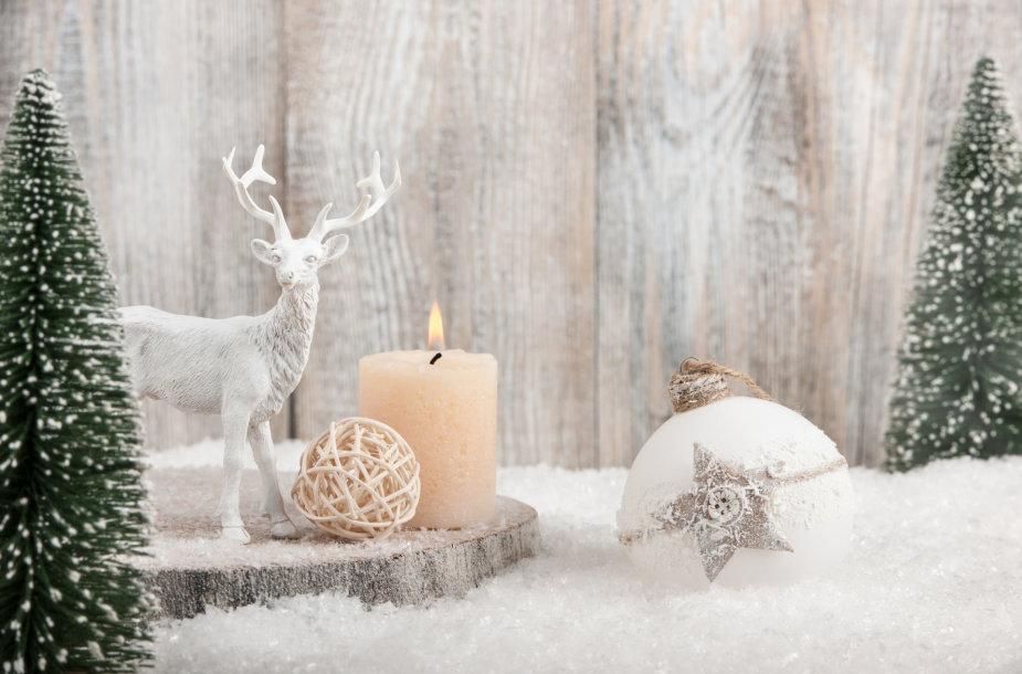 Kalėdinė dekoracija.
