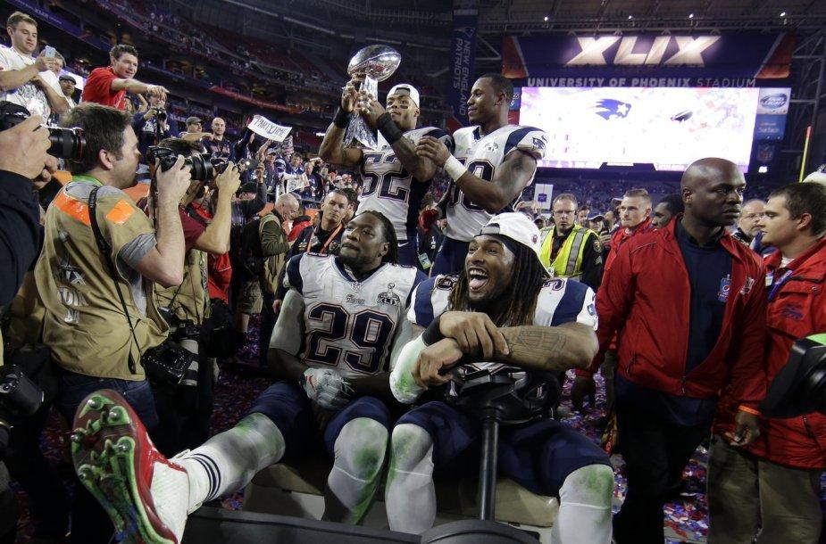"""""""Super Bowl"""" rungtynės tarp Naujosios Anglijos """"Patriots"""" ir Sietlo """"Seahawks"""""""