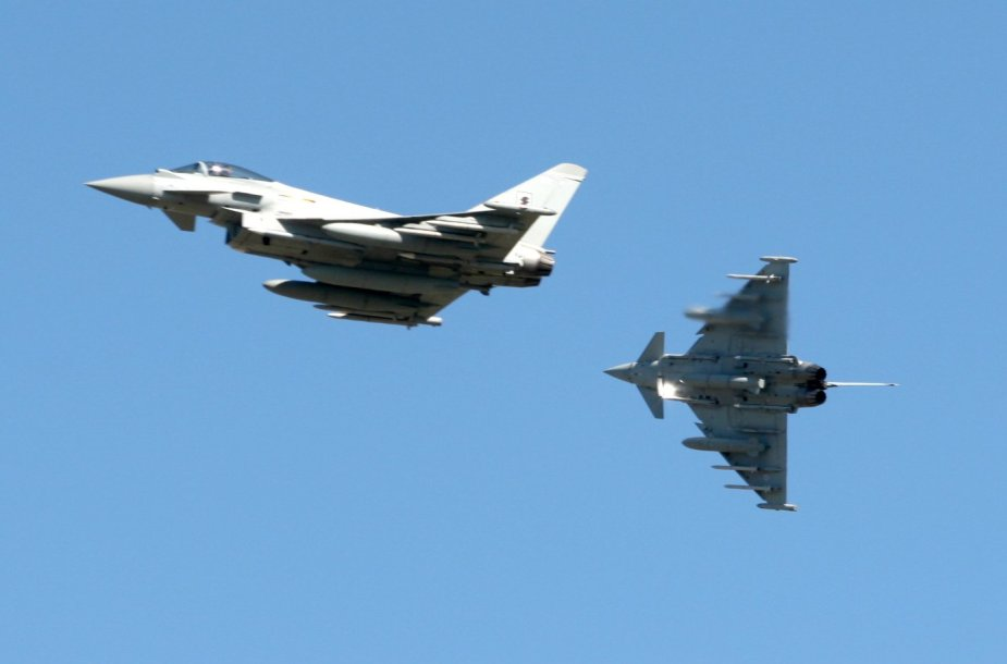 "Naikintuvais ""Eurofigter Typhoon""."