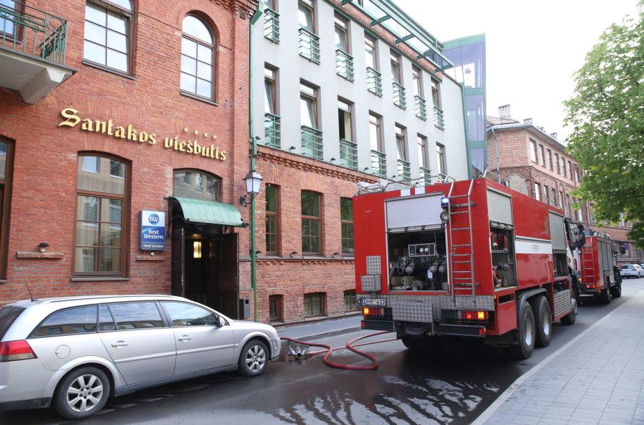 Viešbutyje kilo gaisras