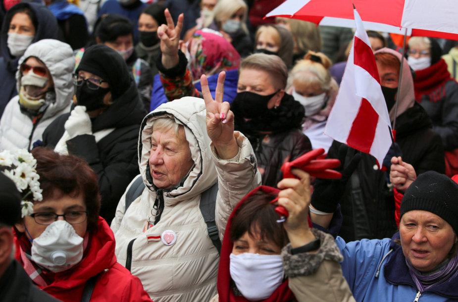 Protestuotojai Baltarusijoje