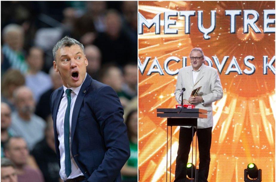 Vaclovas Kidykas (dešinėje) pripažintas geriausiu Lietuvos sporto treneriu 2018 metais.