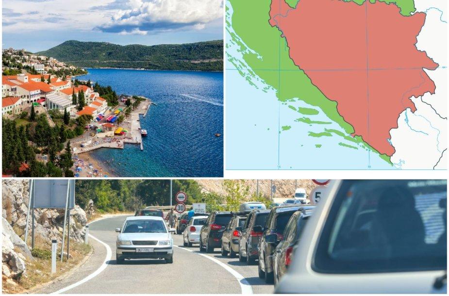 Neumo koridorius – Bosnijos ir Hercogovinos teritorija, įsispraudusi į Kroatiją
