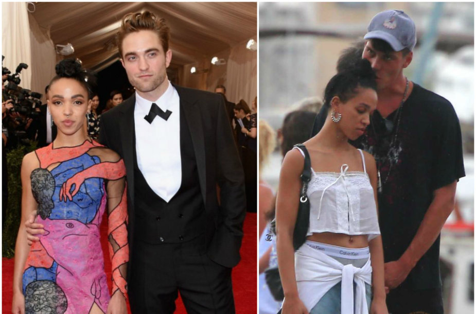 Robertas Pattinsonas ir FKA Twigs (2015 m.) ir FKA Twigs su Brieuc Breitensteinu Ibisoje