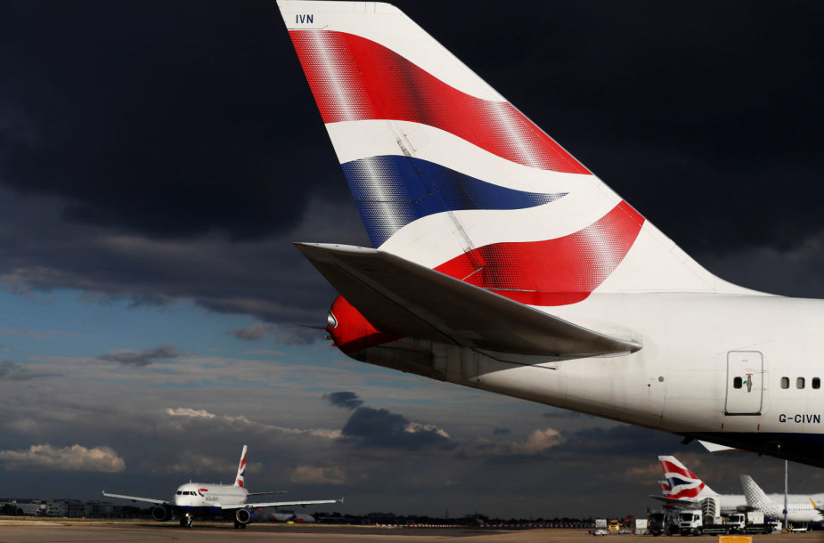 """British Airways"" Londono oro uoste"
