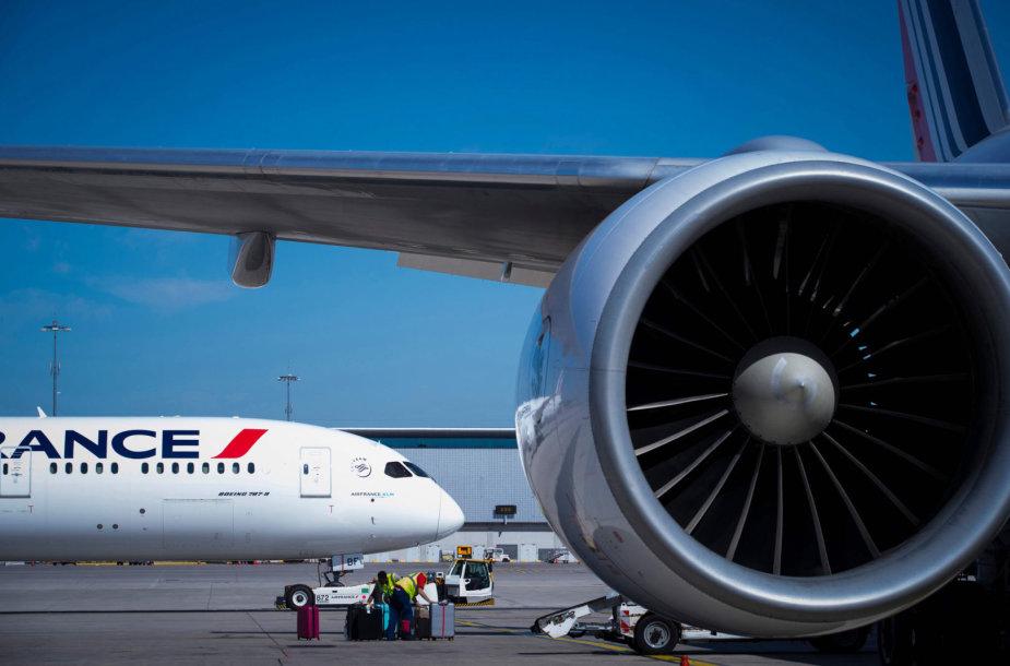 """Aviakompanijos """"Air France"""" lėktuvai"""