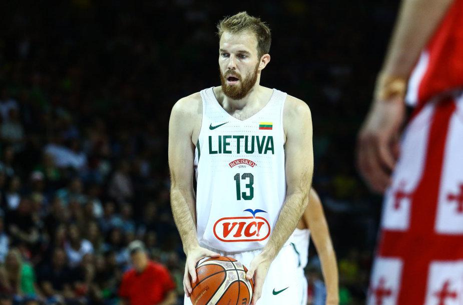 Antrosios rinktinės rungtynės: Lietuva – Gruzija. Martynas Gecevičius