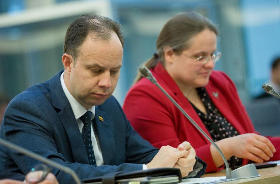 Aurelijus Veryga ir Agnė Širinskienė