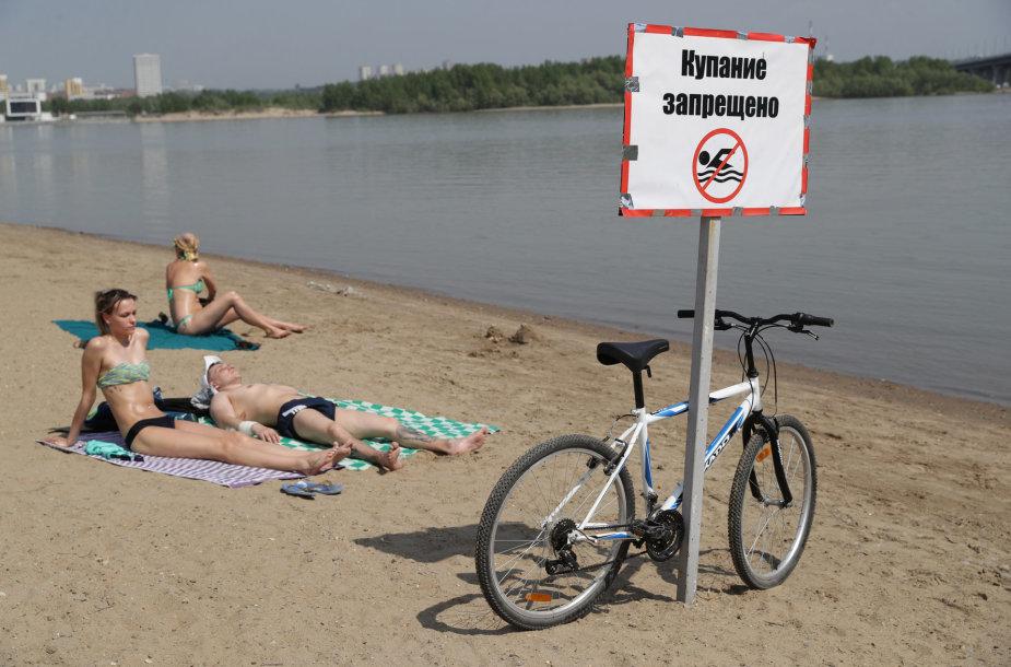 Neįprastai karštas pavasaris Novosibirske