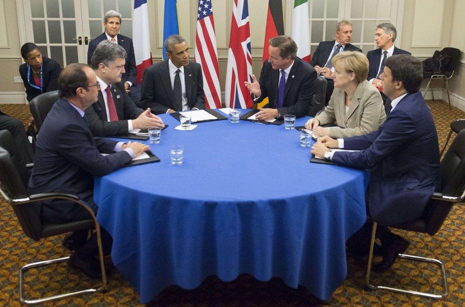 Petro Porošenkos susitikimas su Vakarų šalių lyderiais.