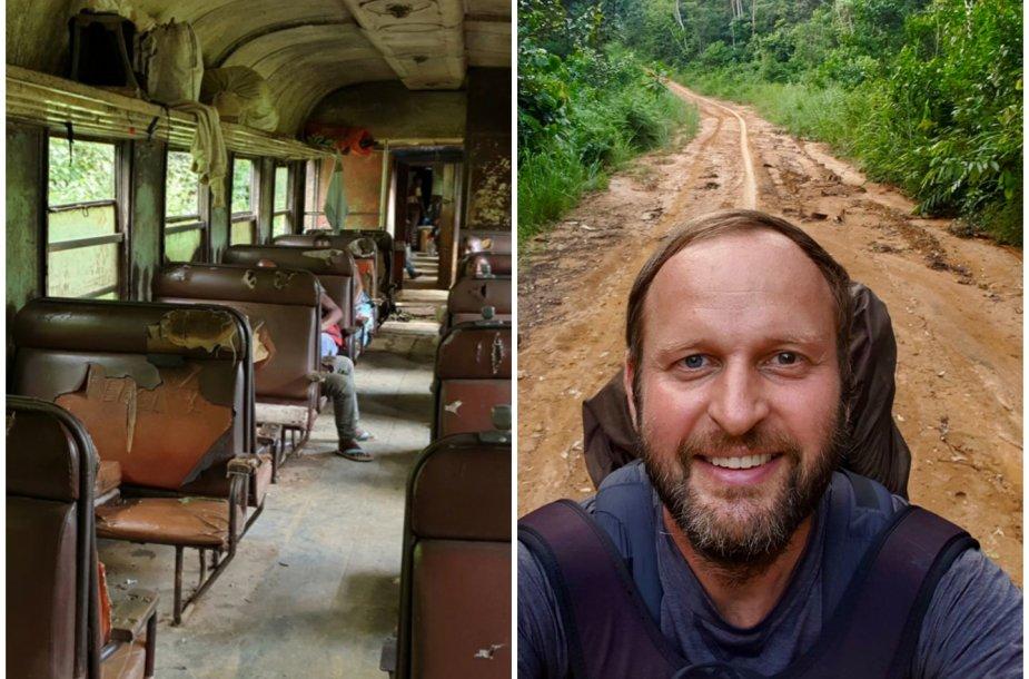 Kelionė baisiausiu traukiniu gyvenime ir nelegalus sienos kirtimas
