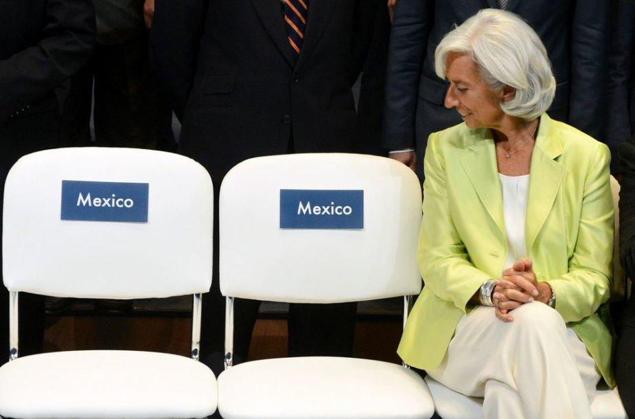 TVF vadovė Christine Lagarde G20 susitikime Maskvoje