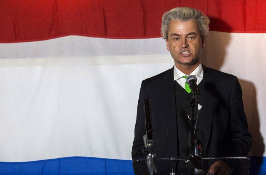 Nyderlandų Laisvės partijos lyderis Geertas Wildersas