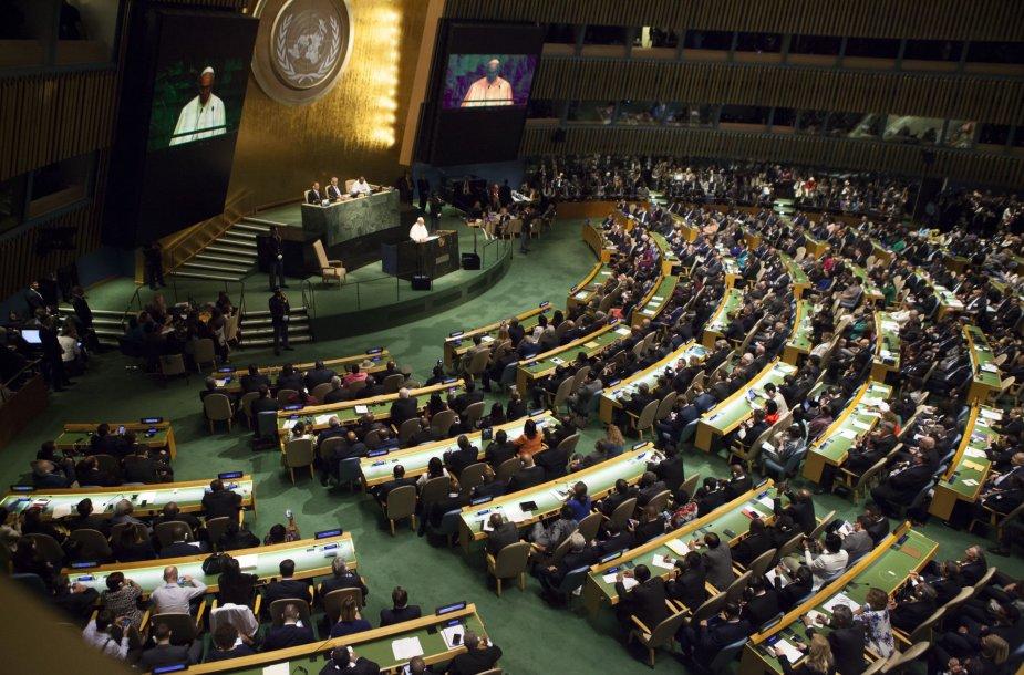 Popiežiaus kalba Jungtinių Tautų Generalinėje Asamblėjoje