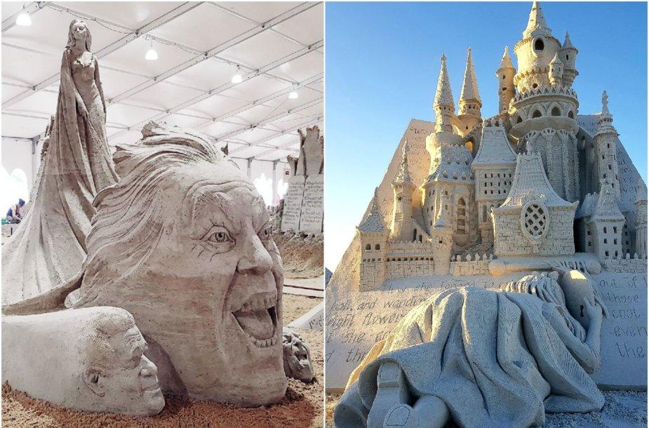 """A.Petkaus dkulptūros: """"Meditacija"""" ir """"Alisa pro laiko angą"""""""