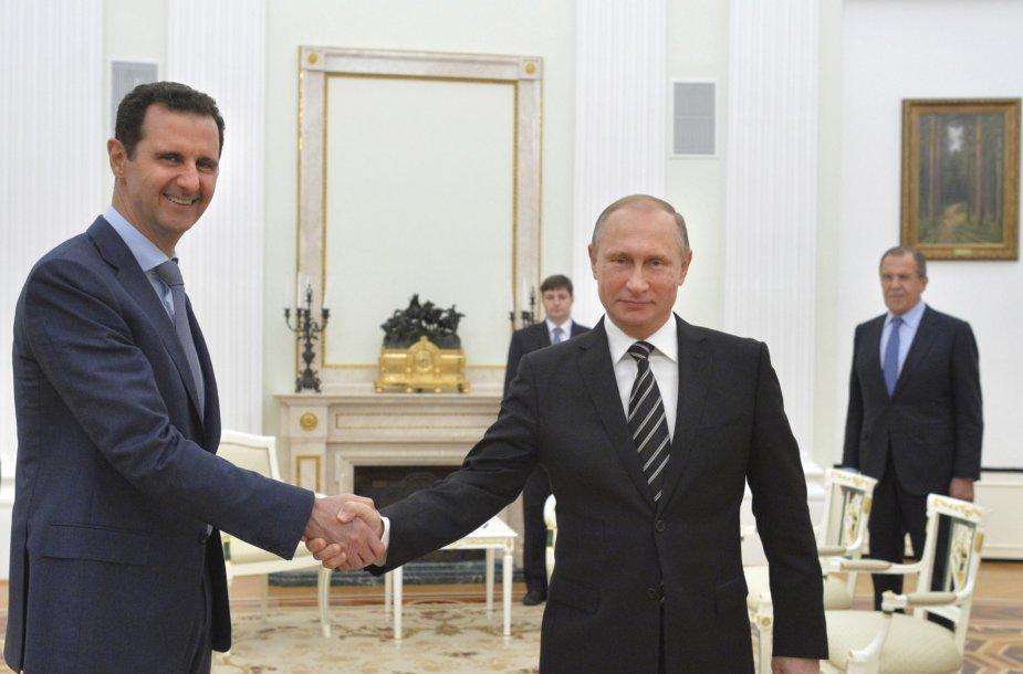 Sirijos prezidentas Basharas al Assadas susitinka su Vladimiru Putinu