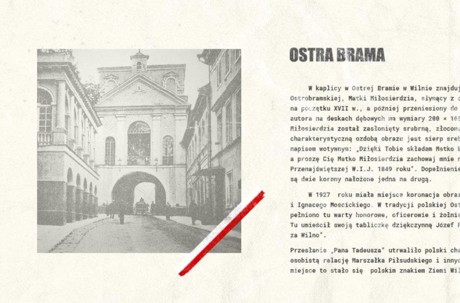 Aušros vartų motyvas iš zaprojektujpaszport.gov.pl