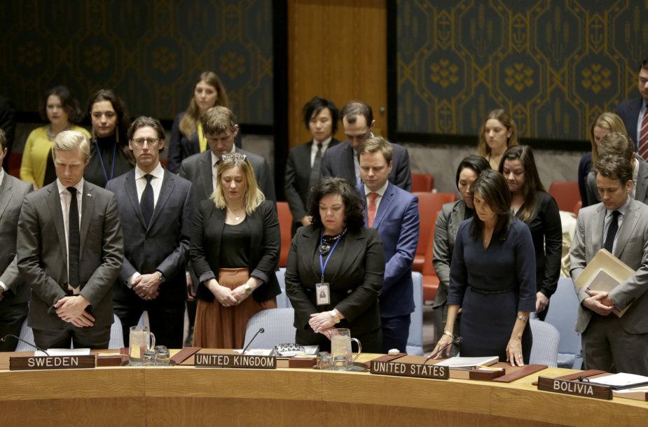 JT Saugumo Tarybos nariai savo ketvirtadienio posėdį pradėjo tylos minute.