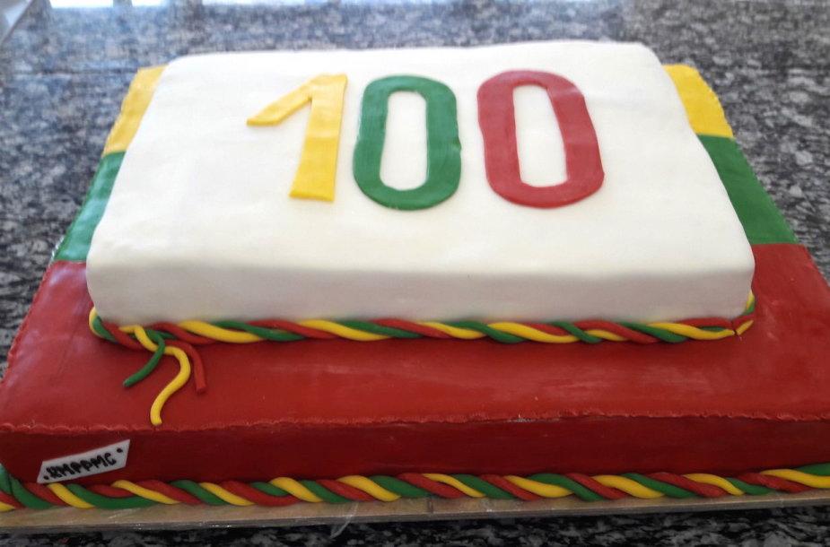 Tortas Lietuvos 100-čiui