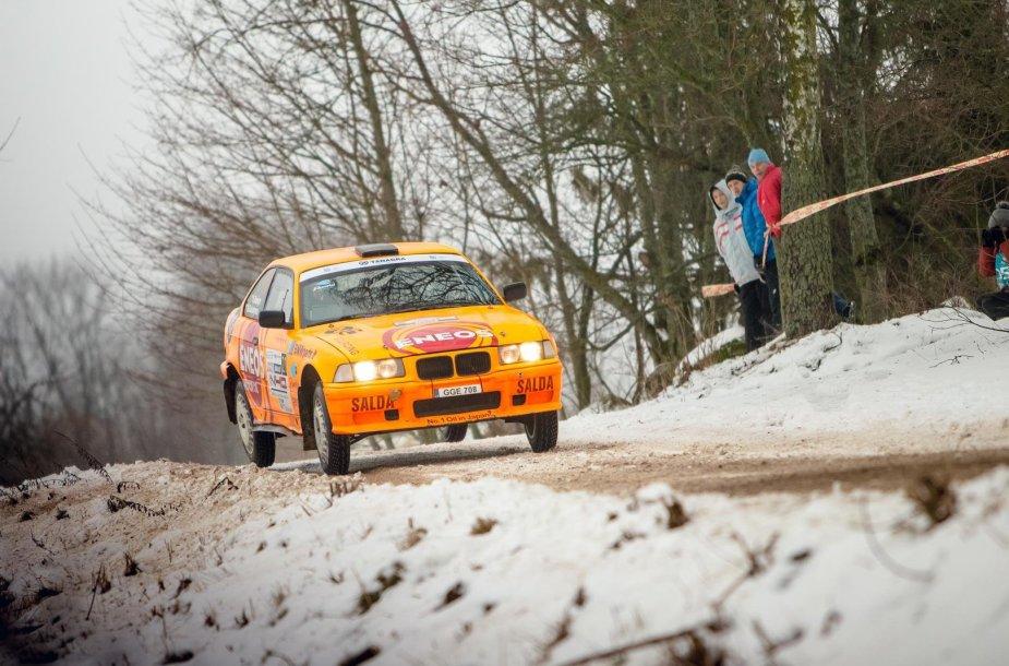 """Karolis Raišys """"Halls Winter Rally 2015"""" varžybose"""