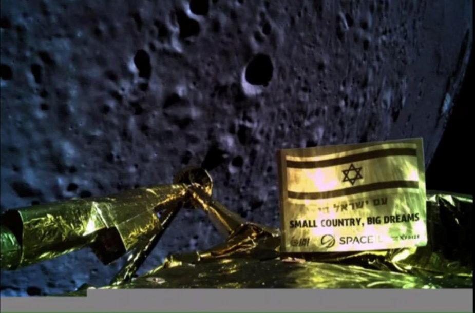 """""""Beresheet"""" padaryta nuotrauka prieš mėginimą nusileisti ant Mėnulio"""