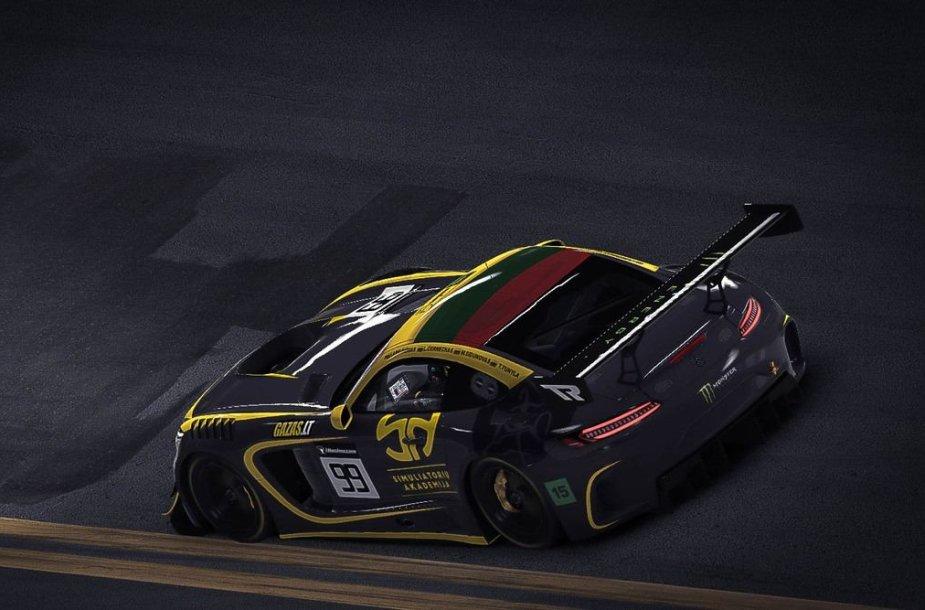 """""""iRacing"""" simuliatoriuje naudojamas """"Mercedes AMG GT3"""""""