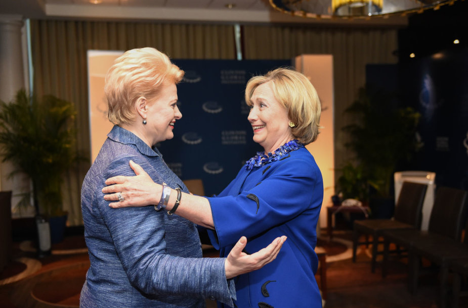 Dalia Grybauskaitė ir Hillary Clinton