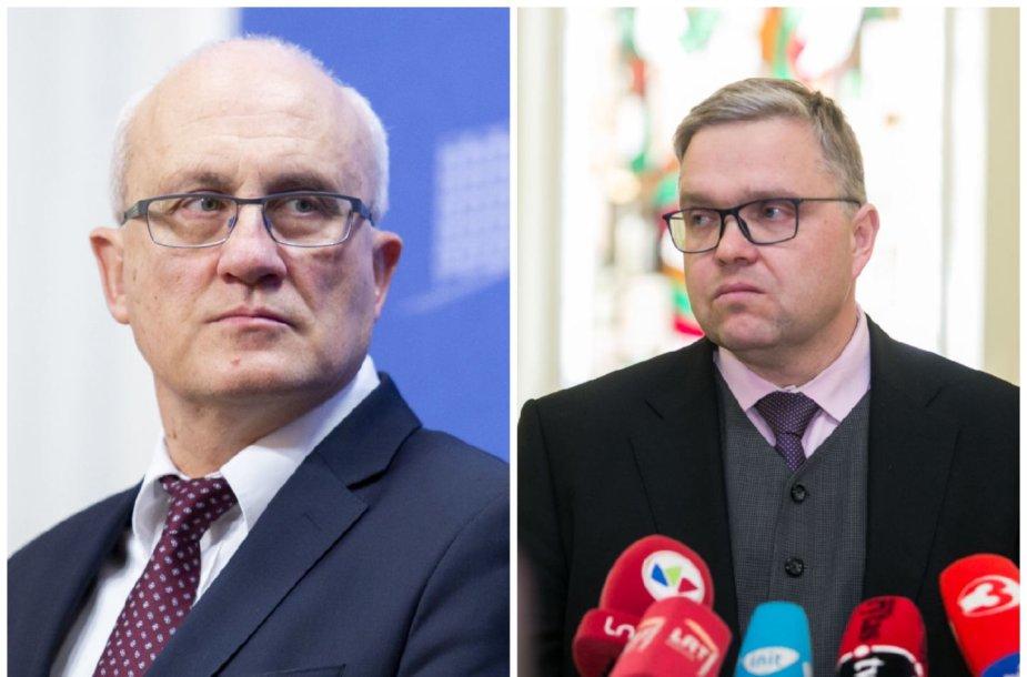 Stasys Jakeliūnas ir Vitas Vasiliauskas