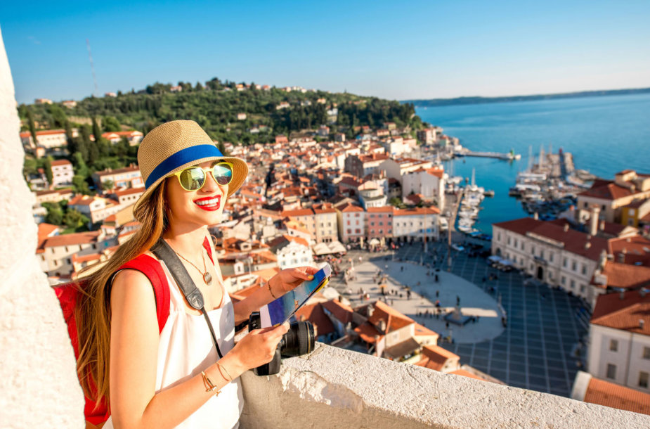 Turistė Slovėnijoje
