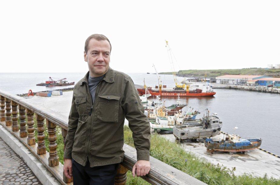 Dmitrijaus Medvedevo vizitas Kurilų salose