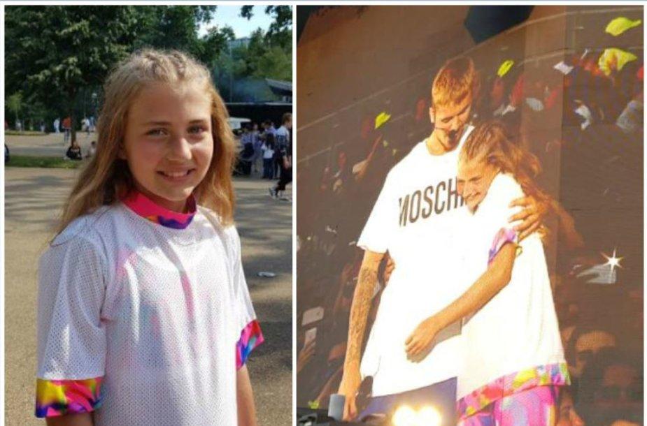 Gabrielė Bruzgulytė kartu su Justinu Bieberiu