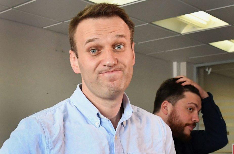 Į laisvę paleistas Aleksejus Navalnas