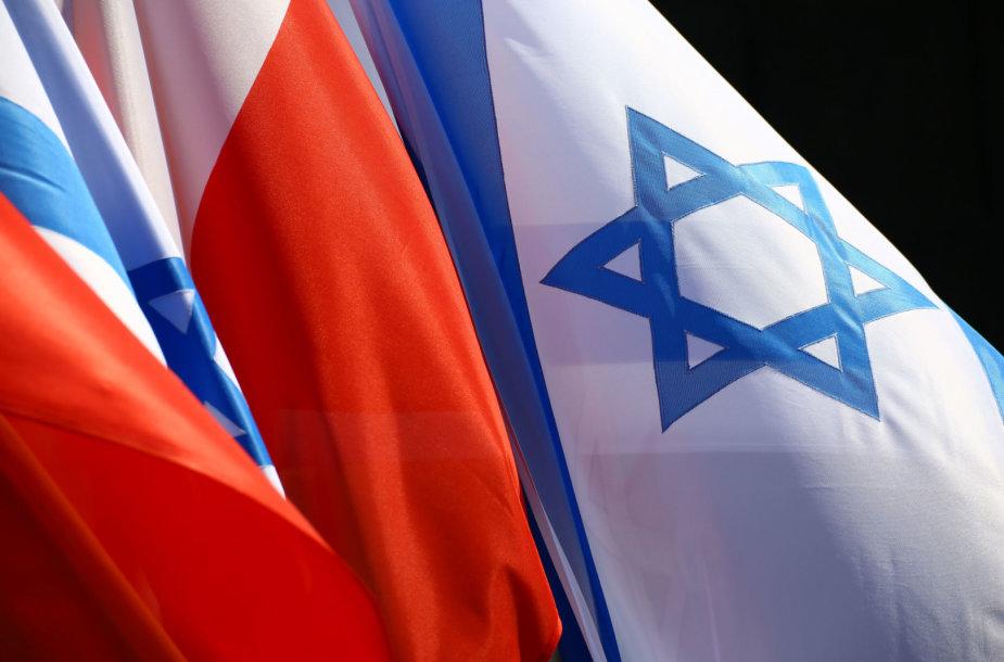 Lenkijos ir Izraelio vėliavos