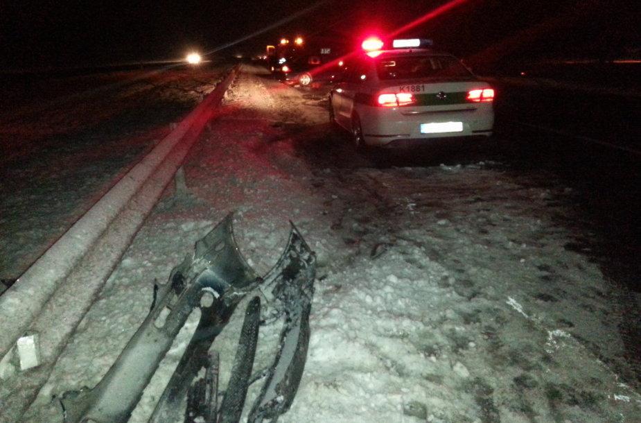 Masinė autoavarija automagistralėje Kaunas-Klaipėda, ties Raseiniais. 2015 m. sausio 23 d.