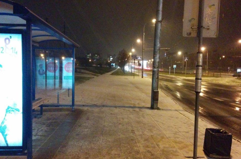 Vilnietis Raimundas užfiksavo pirmąjį sniegą sostinėje.