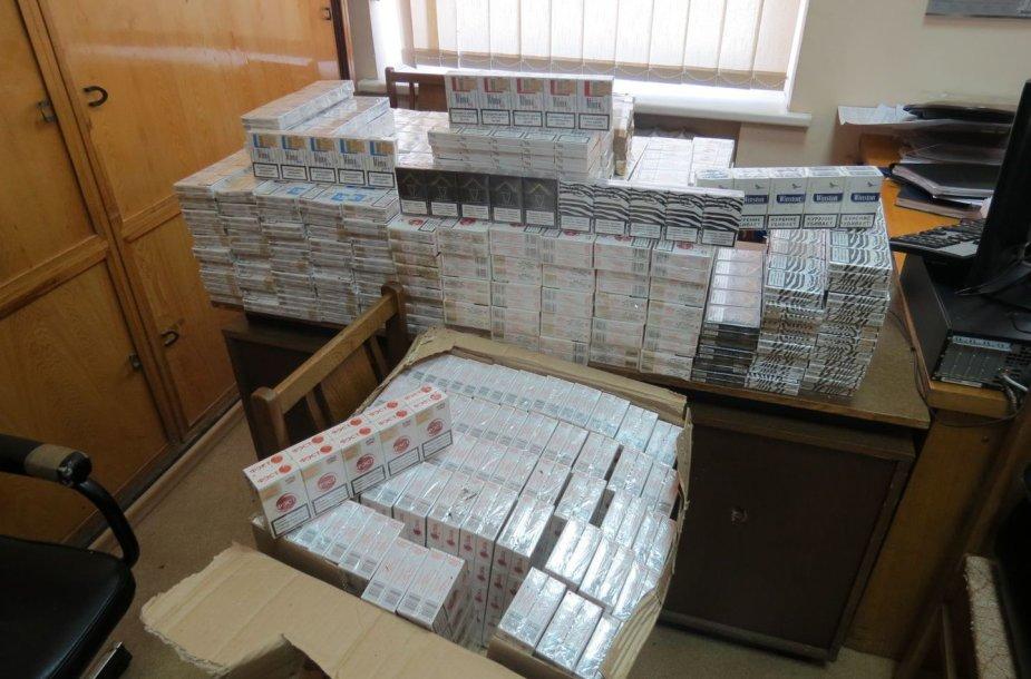 Bačkonyse konfiskuotos cigaretės
