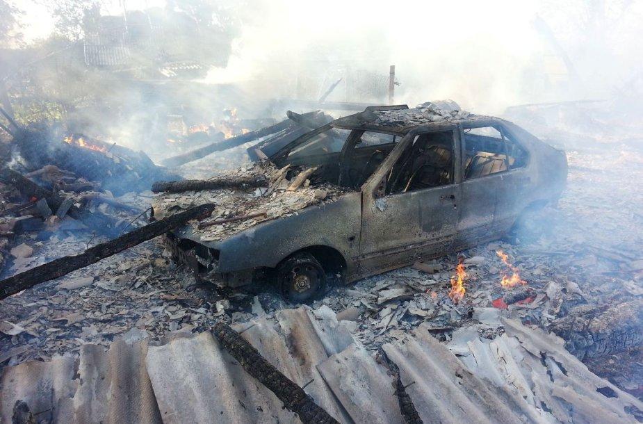 Ugnis sunaikino Klaipėdos rajono ūkininko turtą